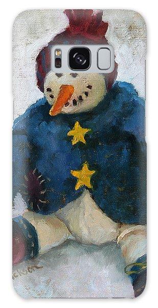 Grinning Snowman Galaxy Case