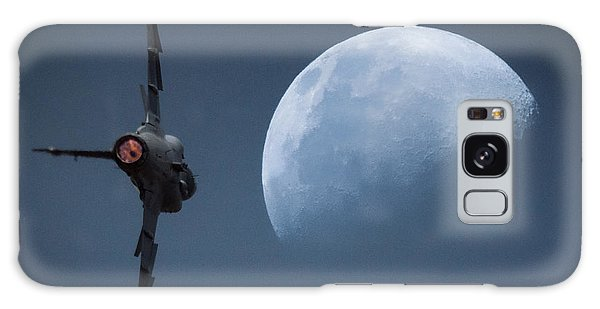 Galaxy Case featuring the photograph Gripen Moon by Paul Job