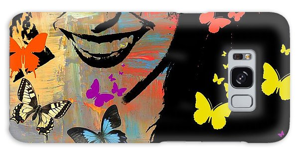 Groovy Butterfly Gal Galaxy Case by Kathy Barney