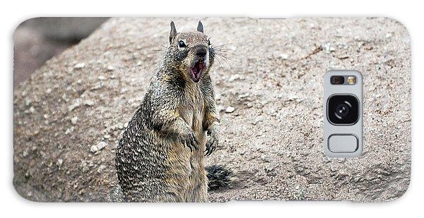 Ground Squirrel Raising A Ruckus Galaxy Case