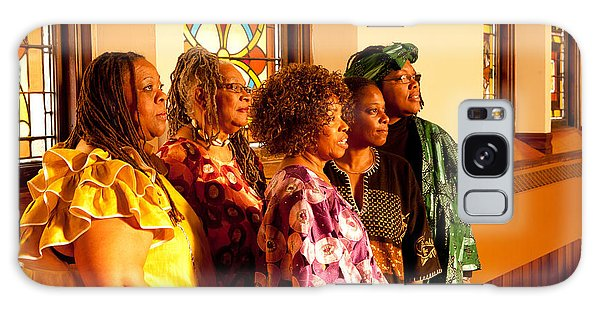 Group Of African Woman Performers Galaxy Case