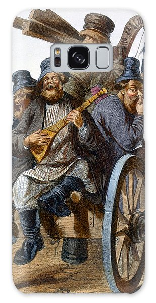 Cart Galaxy Case - Group Of Drunken Peasant Men Singing by Rudolf Jukowsky