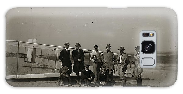 The Wright Brothers Group Portrait In Front Of Glider At Kill Devil Hill Galaxy Case