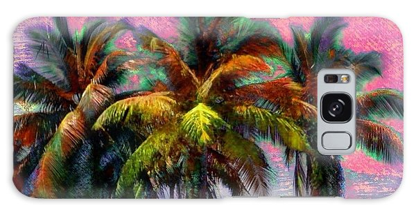 Grove Of Coconut Trees - Square Galaxy Case by Lyn Voytershark