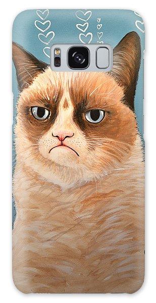 Grumpy Cat Art ... Love You Galaxy Case