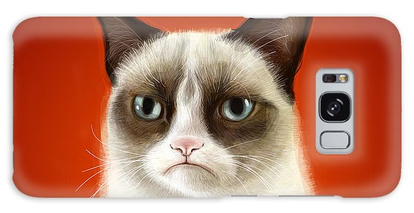 Cat Galaxy Case - Grumpy Cat by Olga Shvartsur