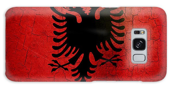 Grunge Albania Flag Galaxy Case
