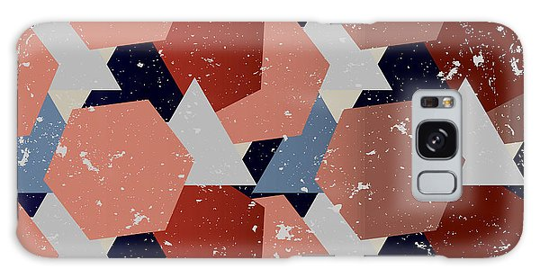 White Galaxy Case - Grunge Geometric Background. Vector by Veronika M