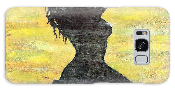 Grunge Girl Female Silhouette Pop Art Galaxy Case