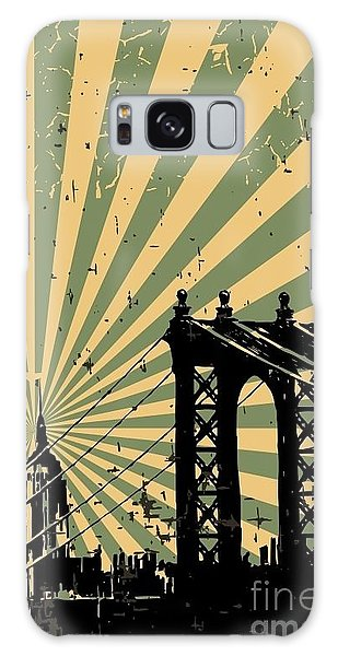 Downtown Galaxy Case - Grunge Image Of New York, Poster, Vector by Pgmart
