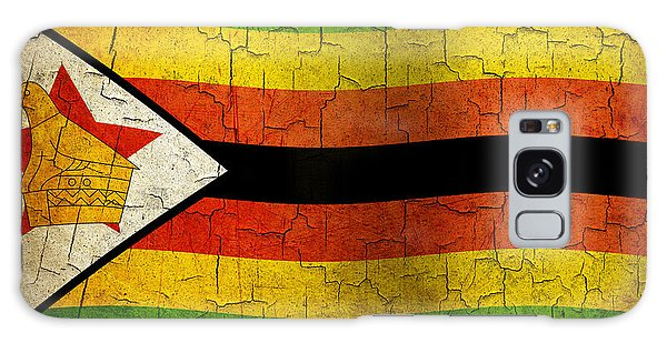 Grunge Zimbabwe Flag Galaxy Case