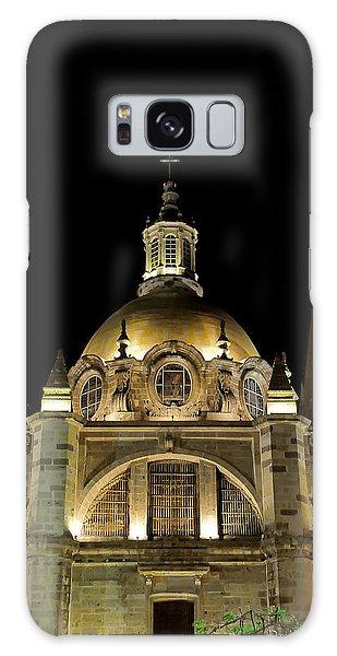 Guadalajara Cathedral At Night Galaxy Case by David Perry Lawrence