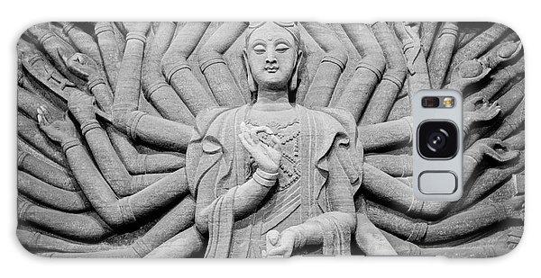 Guanyin Bodhisattva In Black And White Galaxy Case by Dean Harte