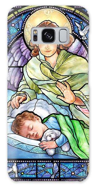 Guardian Angel With Sleeping Boy Galaxy Case