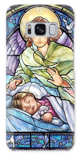 Guardian Angel With Sleeping Girl Galaxy Case