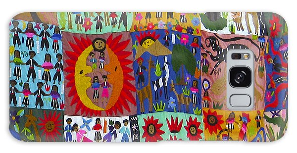 Guatemala Folk Art Quilt Galaxy Case