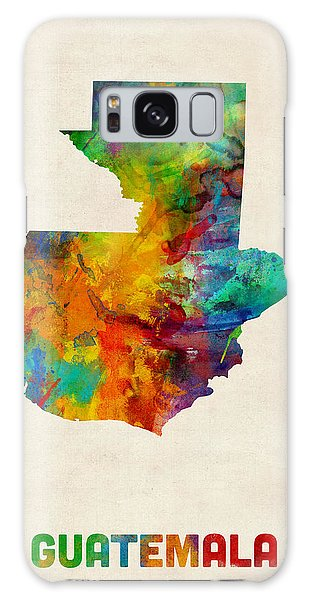 Guatemala Watercolor Map Galaxy Case