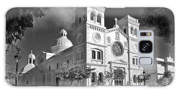 Guayama Church And Plaza B W 1 Galaxy Case