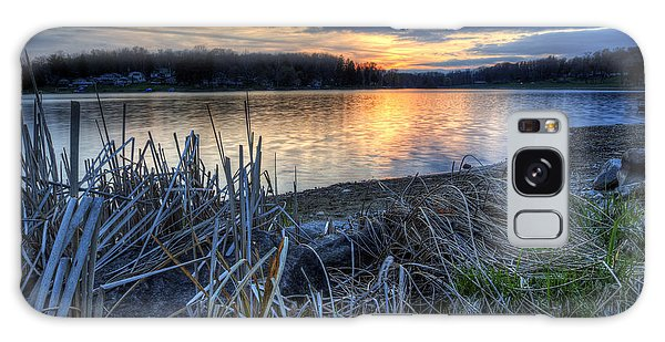 Guilford Lake Sunset Ohio Galaxy Case