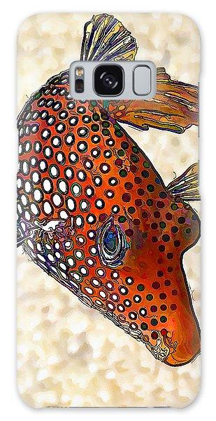 Guinea Fowl Puffer Fish Galaxy Case