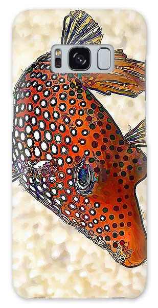 Guinea Fowl Puffer Fish Galaxy Case