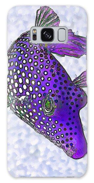 Guinea Fowl Puffer Fish In Purple Galaxy Case