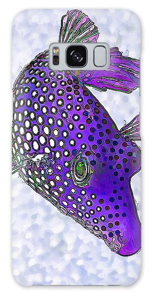 Guinea Fowl Puffer Fish In Purple Galaxy Case