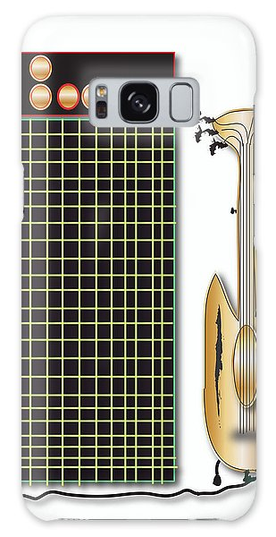 Guitar And Amp Galaxy Case by Marvin Blaine