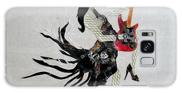 Steampunk Girl Girls With Guitars Collage Painting Galaxy Case
