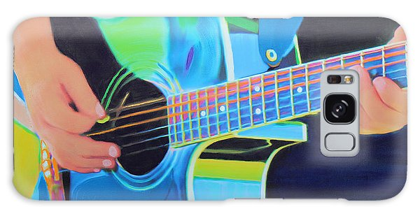 Galaxy Case featuring the painting Guitar Man by Deborah Boyd