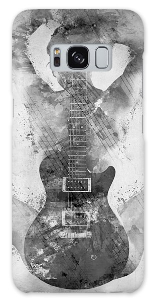 Guitar Siren In Black And White Galaxy Case by Nikki Smith