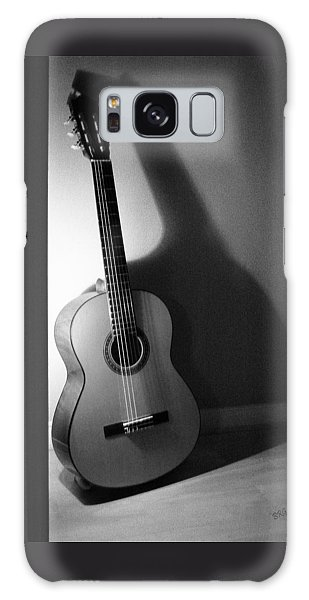 Guitar Still Life In Black And White Galaxy Case
