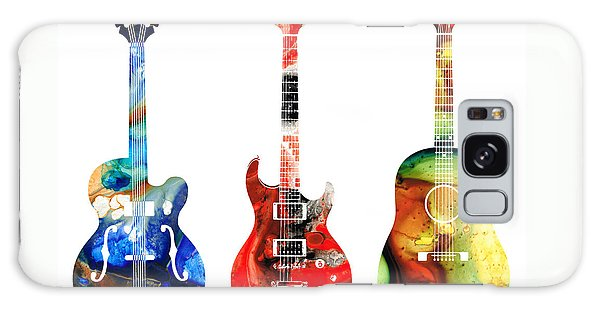 Guitar Galaxy Case - Guitar Threesome - Colorful Guitars By Sharon Cummings by Sharon Cummings