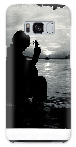 Guitarist By The Sea Galaxy Case by The Art of Alice Terrill
