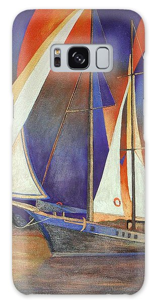 Gulet Under Sail Galaxy Case by Tracey Harrington-Simpson