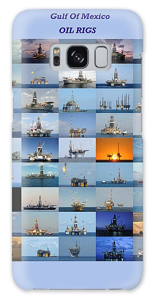 Gulf Of Mexico Oil Rigs Poster Galaxy Case