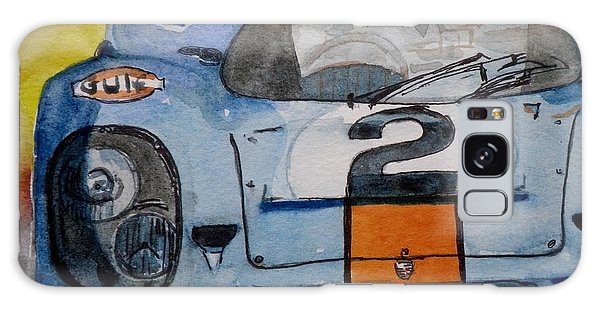 Gulf Porsche Galaxy Case by Anna Ruzsan