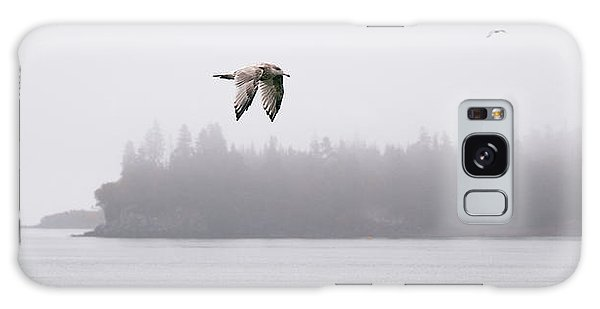Gull In Flight Galaxy Case by Marty Saccone
