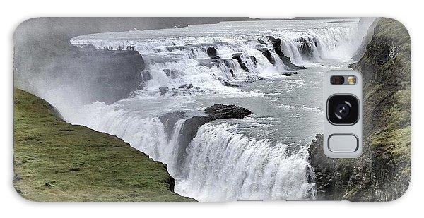 Gullfoss Falls Sw Iceland Galaxy Case