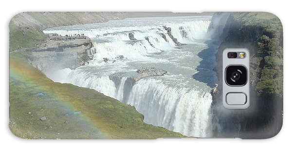 Gullfoss Waterfall Galaxy Case