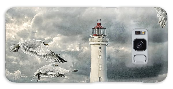 Gulls At Perch Rock Galaxy Case