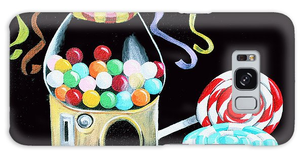 Gumball Machine And The Lollipops Galaxy Case by Shelley Overton