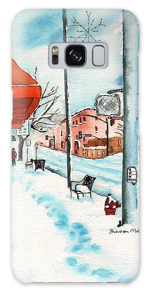 Gurley Street Prescott Arizona On A Cold Winters Day Western Town Galaxy Case by Sharon Mick