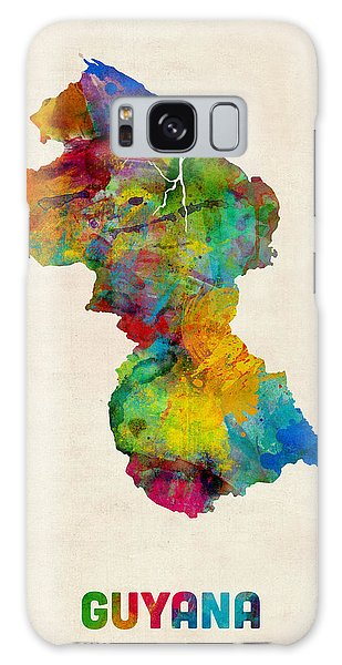 Guyana Watercolor Map Galaxy Case