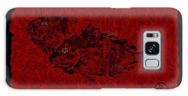 Gyotaku Scup Series 2  Red Unryu Paper Galaxy Case
