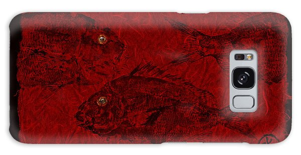 Gyotaku Scup Series 3  Red Unryu Paper Galaxy Case
