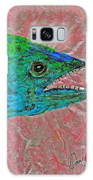 Gyotaku- Spanish Mackerel- Bubble Gum Pink Galaxy Case