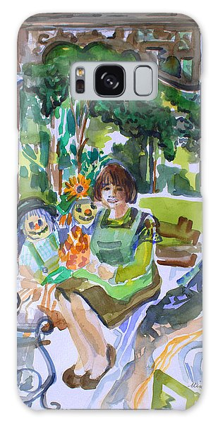 Ha Penny Lady Galaxy Case by Mindy Newman