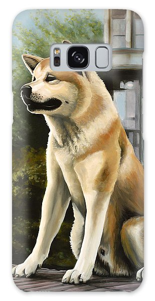 Hachi Painting Galaxy Case by Paul Meijering