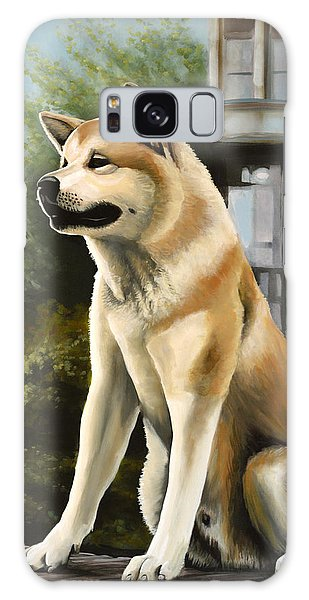 Hachi Painting Galaxy Case